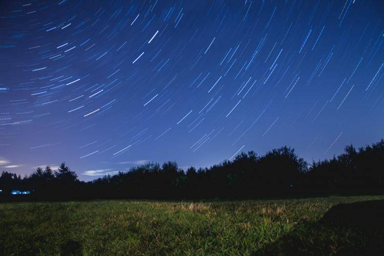 earth rotation stars